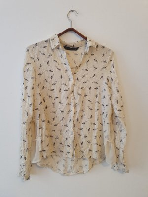 Bluse mit Vogelprint