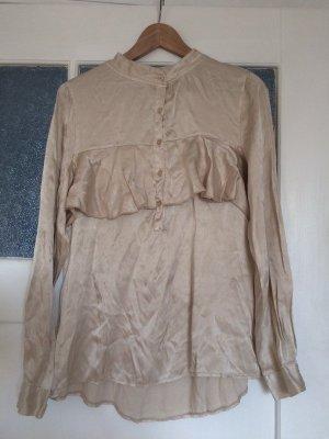 Alice Rinaldi Ruche blouse veelkleurig Zijde