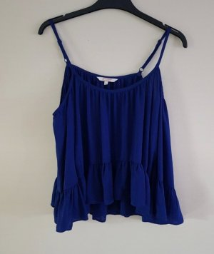C&A Clockhouse Bluzka z falbankami niebieski