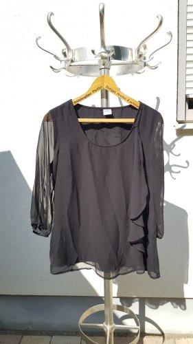 Vero Moda Transparent Blouse black polyester