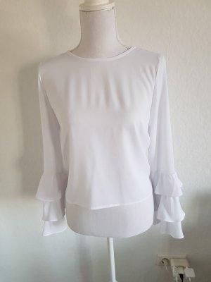 Glamorous Ruffled Blouse white