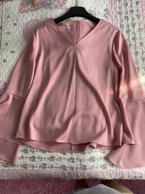 Bluse mit Volantärmeln,  Grösse S, rosa,