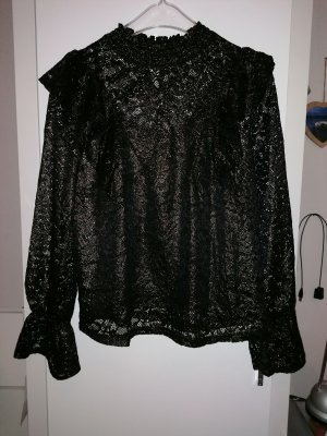 Pimkie Lace Blouse black-gold-colored