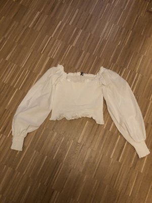 Bluse mit weiten Ärmel cropped