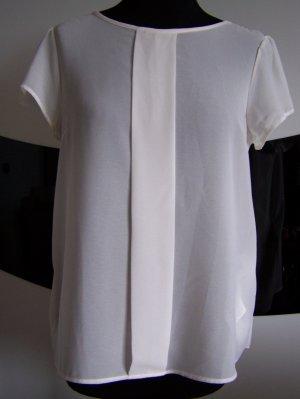 Bluse MÖTIVI, Italien, hochwertige Polyester, Gr. 38, Weiß, mit Spitze