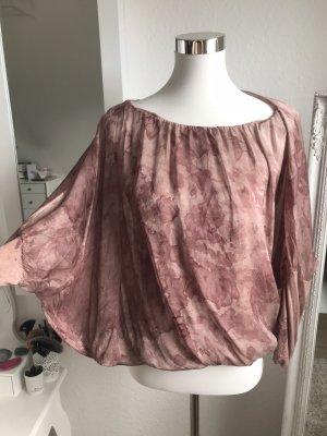 Made in Italy Glanzende blouse lichtbruin-cognac