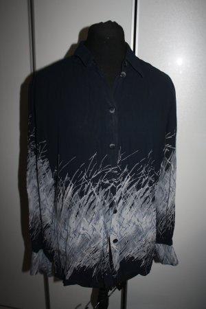Bluse, nachtblau-grau, Gr. 38