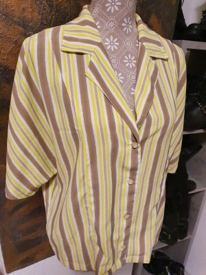 Mango V-Neck Shirt camel-neon yellow