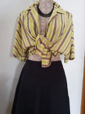 Mango T-shirt col en V chameau-jaune fluo