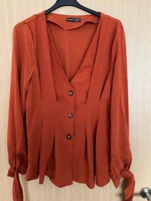 SheIn Kimono Blouse dark orange-orange