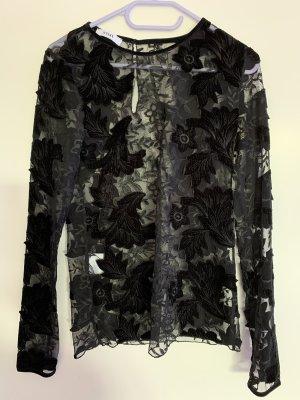 0039 Italy Blouse transparente noir