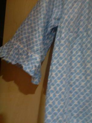 Walbusch Blouse avec noeuds blanc-bleu azur