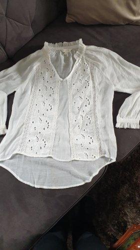 ADIVA Kanten blouse wit
