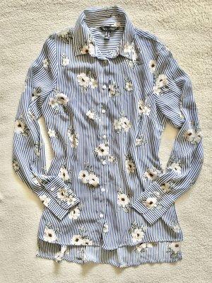 New Look Bluzka z długim rękawem biały-stalowy niebieski