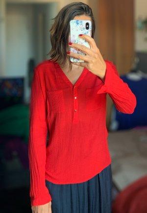 Inserción de blusa rojo claro