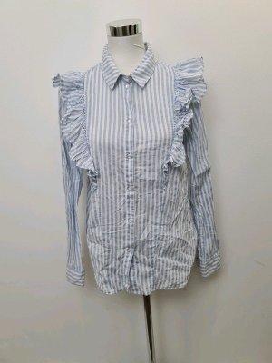 Bluse / Noisy May / Blau Weiß gestreift / Größe L / für eine M geeignet