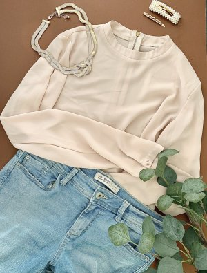 Stand-Up Collar Blouse pink