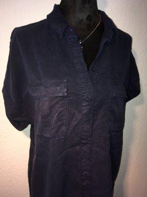 H&M Chemise à manches courtes bleu foncé