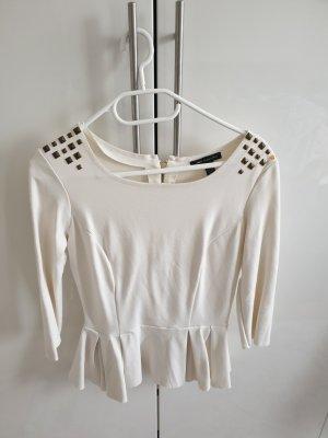 Bluse Oberteil mango weiß/beige