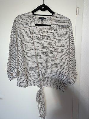 Primark Camisa holgada blanco-negro