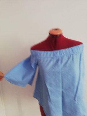Amisu Top koszulowy błękitny