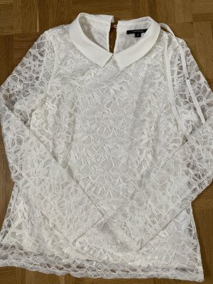 Comma Crochet Shirt white