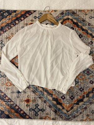 Bluse Off-Shoulder T-Shirt Strickjacke