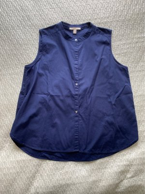 Esprit Blouse met opstaande kraag donkerblauw