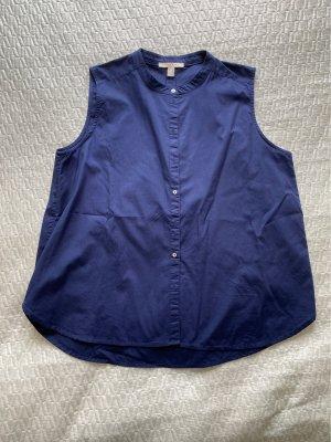 Esprit Bluzka ze stójką ciemnoniebieski
