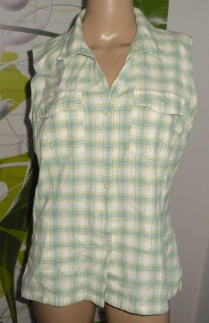 s.Oliver Sleeveless Blouse white-green
