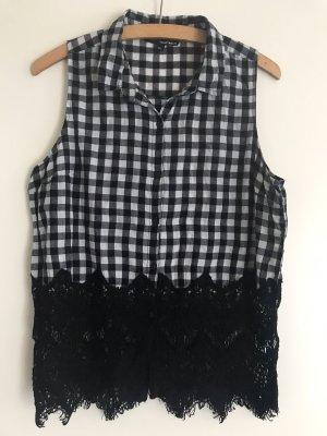 Tally Weijl Blusa in merletto nero-bianco Cotone