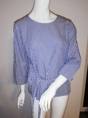 Opus Long Sleeve Blouse white-blue