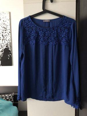 Bluse Orsay blau Spitze