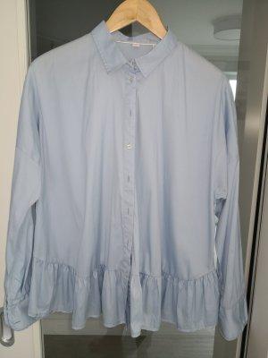 Bluse Oversize hellblau
