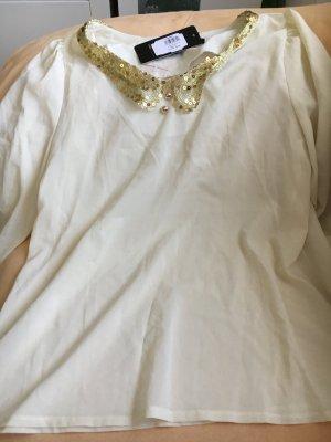 Cols de blouses crème