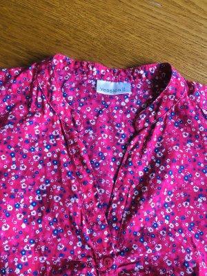 Bluse pink mit Blumen Größe 38