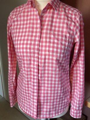 Bogner Camicia a scacchi bianco-rosa Cotone