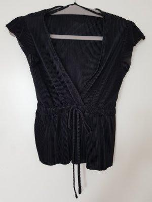 bluse plissee schwarz