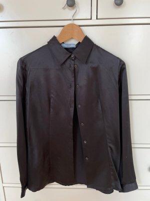Bluse Prada, schwarz glänzend, Gr 36