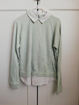 Bluse/Pulli mit Hemdkragen