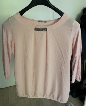 Bluse/Pullover in rose mit Glitzerperlen