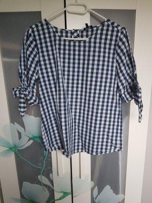 Reserved Camicia a scacchi bianco-blu scuro