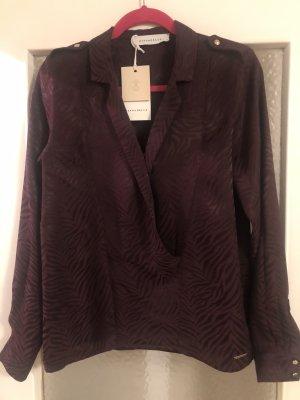 Rino & Pelle Cols de blouses bordeau viscose