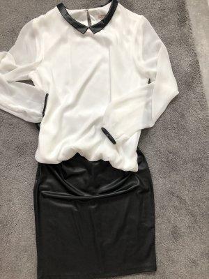 C&A Blouse en lin noir-blanc