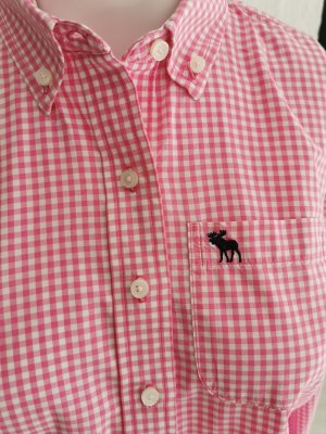 Abercrombie & Fitch Blouse à carreaux rose