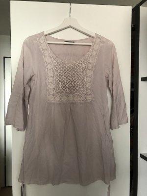Bluse rosa bestickt Schleife Tunika