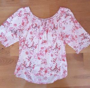 Bluse rosa mit Blumen Gr. S