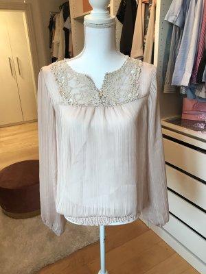 Vero Moda Koronkowa bluzka różany