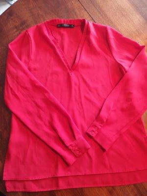 Zara Basic Blusa brillante rosso
