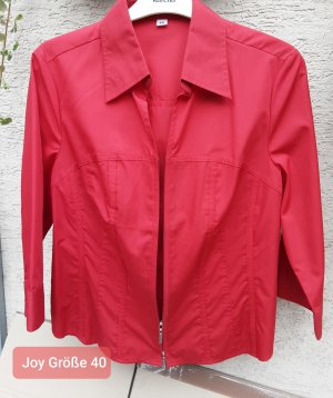 Joy Oversized Blouse red polyester